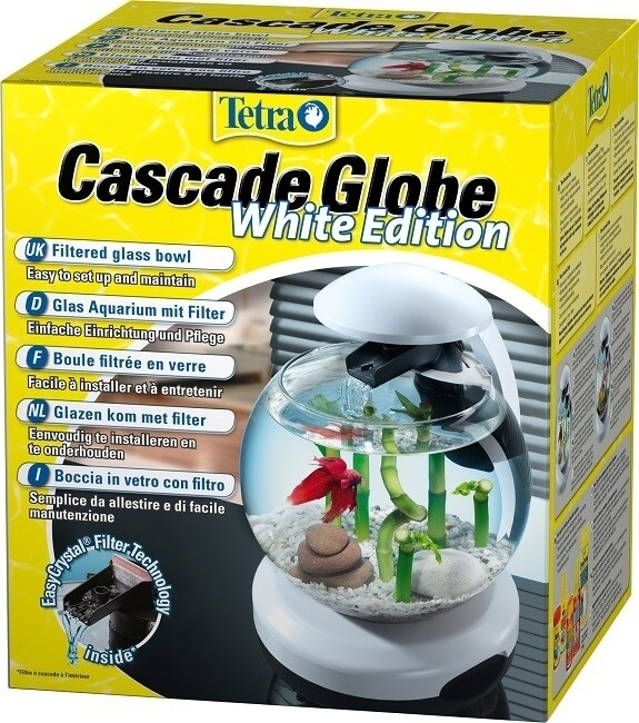 Tetra cascade globe noir ou blanc aquarium et meuble for Aquarium boule pas cher