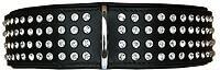 Collier en cuir noir avec pierres blanches Swarovski, Strass Extrême, 6 tailles - Animal Gear
