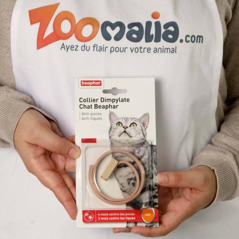 Collier antiparasitaire anti-puces et tiques Chat au Dimpylate