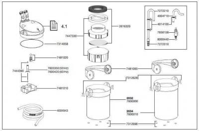 Pièces détachées pour filtre Eheim Ecco Pro 200 (2034)