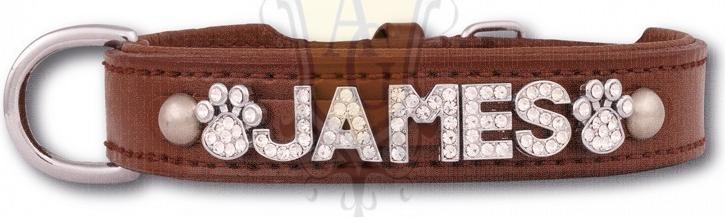 Collier en cuir marron pour lettres, 12 tailles - Animal Gear