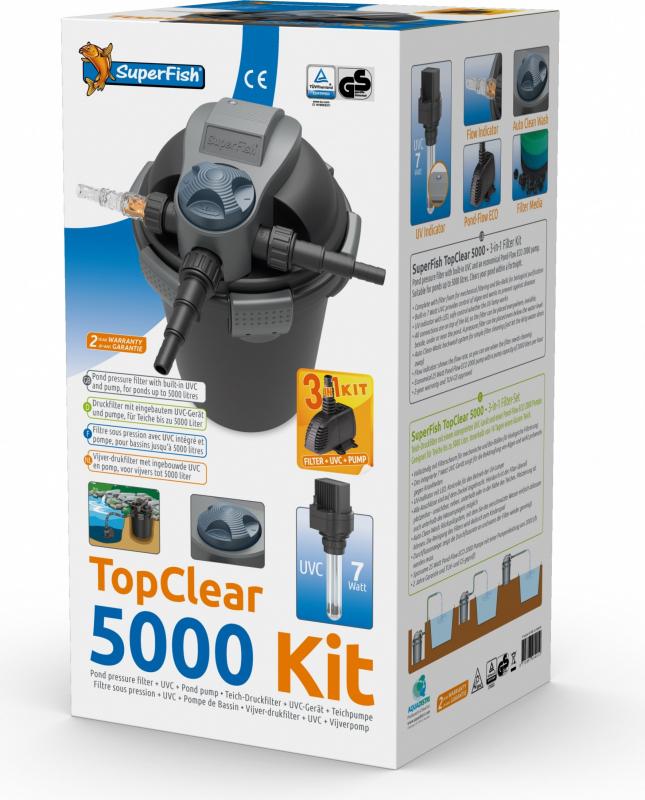 Kit de filtration complet Top Clear Superfish Filtre + UV + Pompe