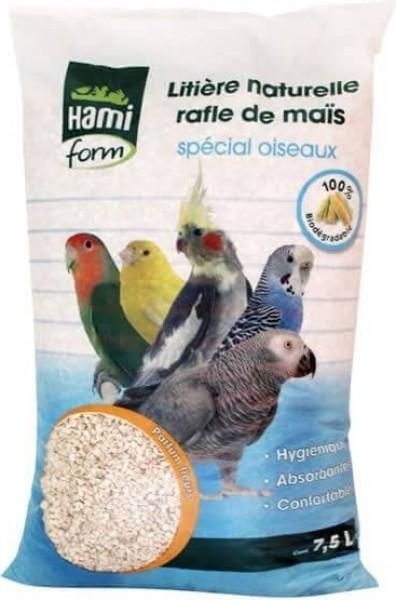Litière rafle de maïs aux fleurs Spécial Oiseaux