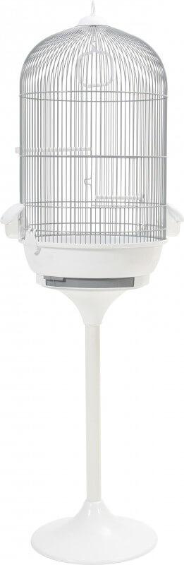 cage amarante grise pied blanc cage petits oiseaux. Black Bedroom Furniture Sets. Home Design Ideas