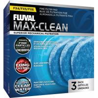 Fluval Mousse fine bleue pour filtre FX4, FX5 et FX6, paquet de 3