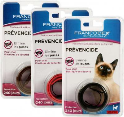 Collier Prévencide anti parasitaire pour chat actif 240 jours