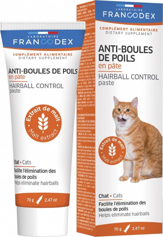Francodex Anti-Boules de Poils en Pâte - pour chats de + de 6 mois