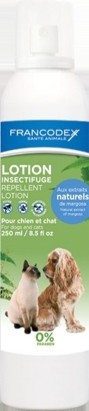 Lotion Insectifuge Chiens et Chats 0% Paraben et Insecticide