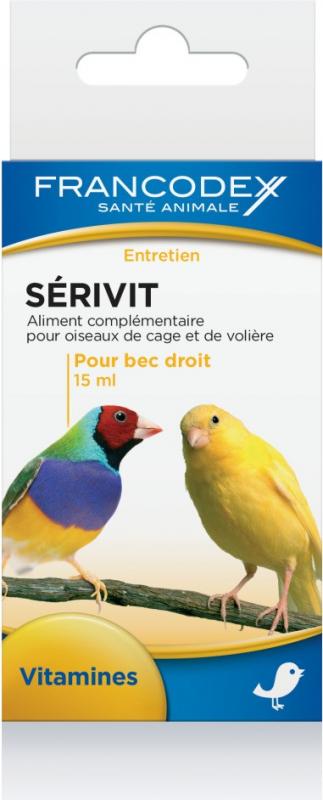 Serivit - Vitamines en sporenelementen voor vogels met rechte snavel