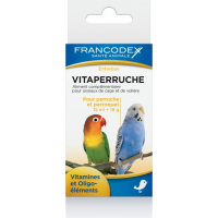 Francodex Vitaperruche per pappagalli e parrocchetti - con becco a uncino - vitamine e oligo-elementi