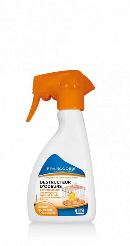 spray destructeur d 39 odeurs environnement rongeurs lapins furets nettoyage et odeurs rongeurs. Black Bedroom Furniture Sets. Home Design Ideas