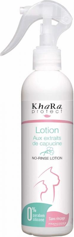Khara Lotion nettoyante sans rinçage pour chats aux extraits de capucine