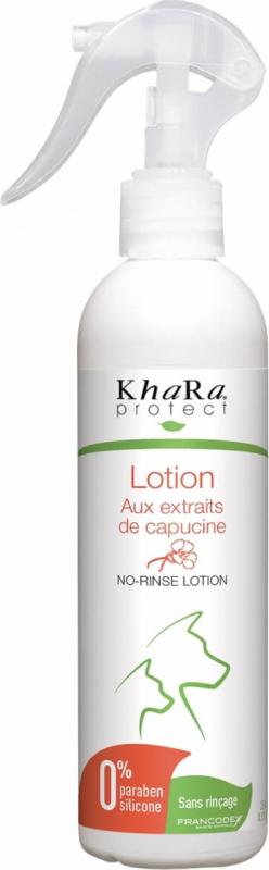 Khara Lotion nettoyante sans rinçage pour chiens aux extraits de capucine