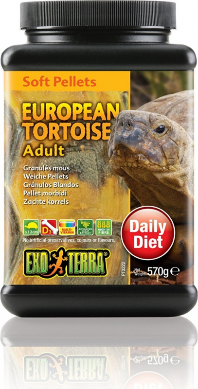 Granulés mous Exo-Terra pour tortues terrestres européennes adultes, 570 g