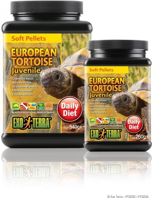 Granulés mous Exo Terra pour tortues terrestres européennes juvéniles, 260 g