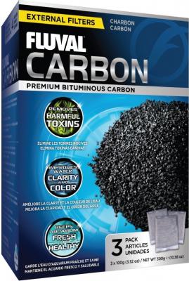 Fluval Média de filtration Charbon 3 x 100g