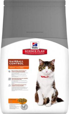 Hill's Chat Adulte 1 - 6 Hairball Control con pollo; Ayuda a eliminar las bolas de pelo