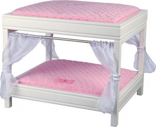 lit baldaquin my princess 50 40 42 cm blanc rose lits et canap s. Black Bedroom Furniture Sets. Home Design Ideas