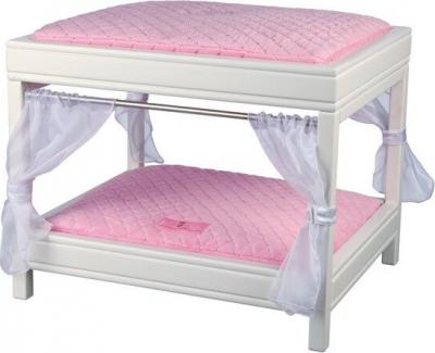 Cama con baldaquino My Princess 50 x 40 x 42 cm, blanco/rosa