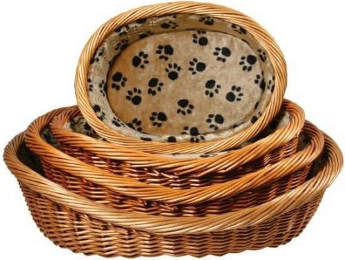Corbeille pour chiens doublée avec coussin