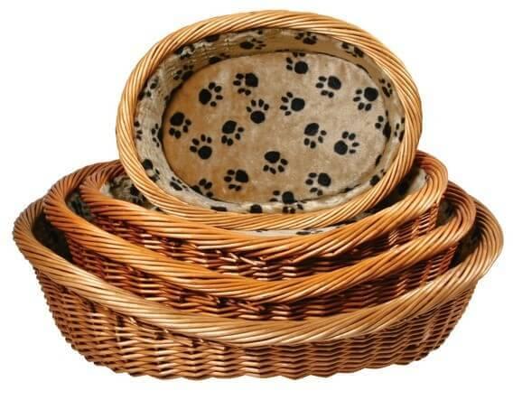 Corbeille pour chiens doublée avec coussin_0
