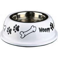 Stainless Steel Bowl with Plastic Holder