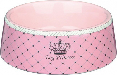 Dog Princess Ecuelle céramique rose