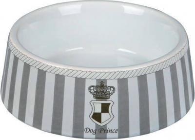 Dog Prince Ecuelle céramique gris/blanc