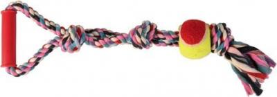 Denta Fun Playing Rope with Tennis Ball