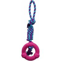 Denta Fun Anneau sur une corde, caoutchouc naturel 12 cm/41 cm