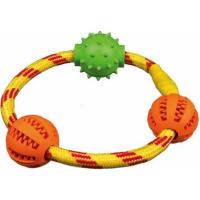 Denta Fun Anneau corde avec balles, ø 20 cm
