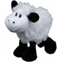 Mouton en peluche noir et blanc