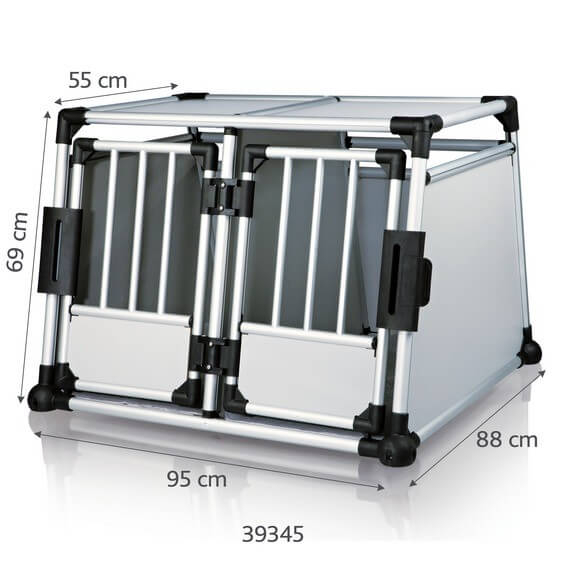 Jaula de transporte doble con estructura de aluminio, especial para coche_0