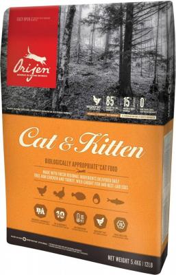 Orijen Cat and Kitten - mit Hühnchen, Pute und Fisch