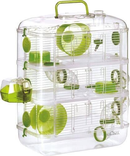 Cage Rodylounge Trio couleur Kiwi pour Hamster