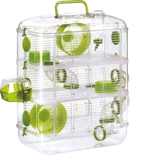 cage rodylounge trio couleur kiwi pour hamster cage hamster. Black Bedroom Furniture Sets. Home Design Ideas