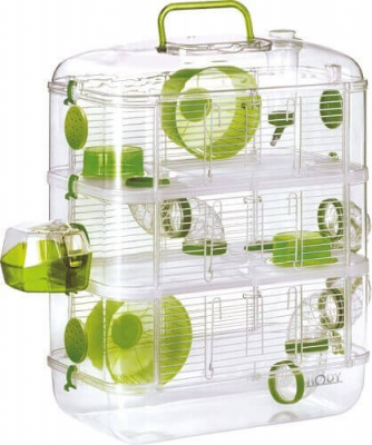 Cage Rodylounge Trio couleur Kiwi pour Hamster