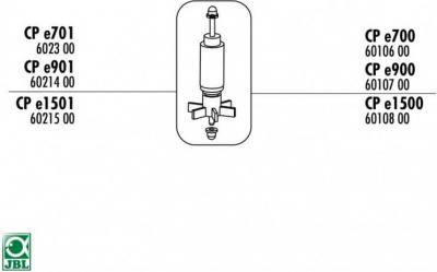 Rotor für den Filter JBL CristalProfi e1500