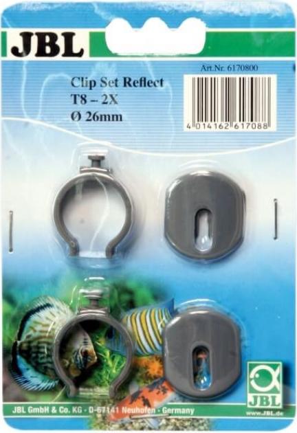 Lot de deux clips en plastique pour réflécteur T8