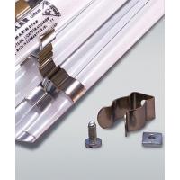 Lot de deux clips en métal pour tube fluorescent T8