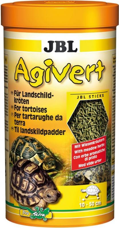 Agivert - Rein pflanzliche Futtersticks für Landschildkröten
