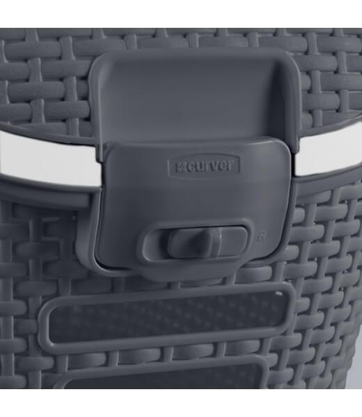 transportbox mit rattanoptik  einfache reinigung  grau  ~ Entsafter Einfache Reinigung
