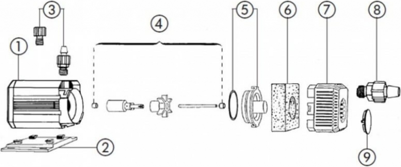 Pompe universelle EHEIM Universal 1262 - 3400 L/h