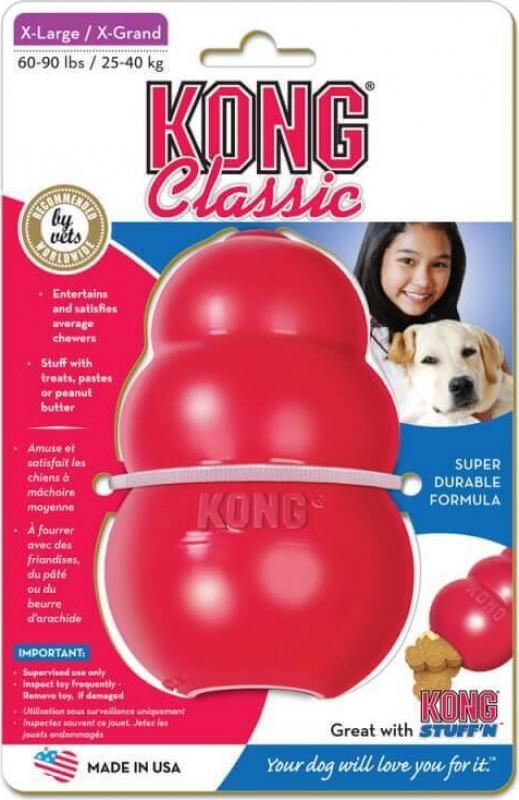 Juguete KONG Classic para perro 6 tamaños - caucho medio/duro para perros para morder