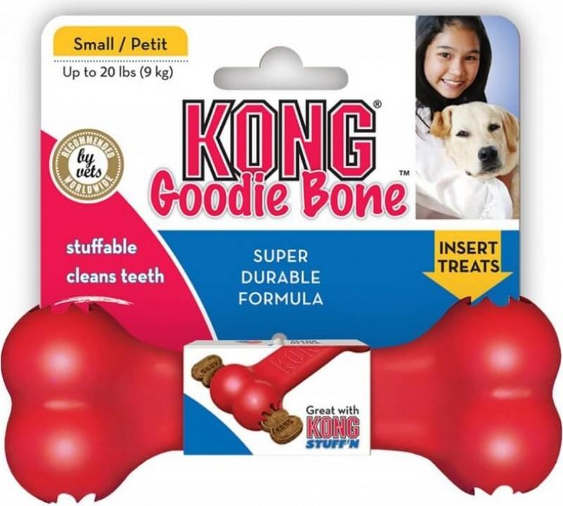 KONG chien Goodie Bone 3 tailles - os en caoutchouc pour chiens