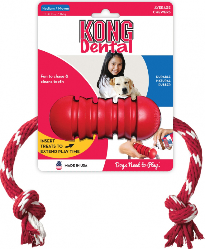 KONG chien Classic Dental Corde 2 tailles - nettoyage de la dentition