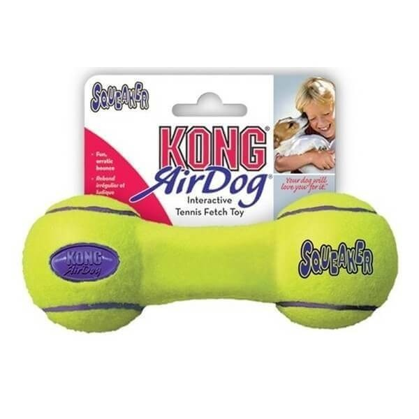 kong airdog dumbbell in 3 gr en spielzeug f r hunde alles gr en h pfendes quietschi. Black Bedroom Furniture Sets. Home Design Ideas