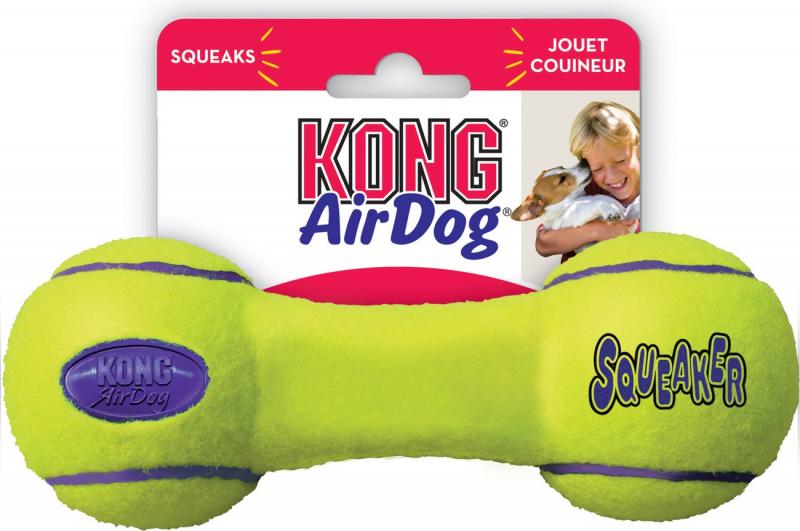KONG Squeaker Dumbbell 3 tailles - jouet chien toutes tailles - rebondissant et sonore
