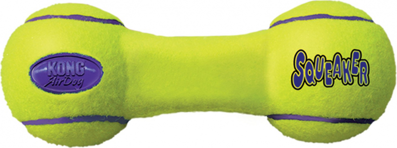 KONG Airdog Dumbbell 3 tallas - juguete para perros de todos los tamaños - sonora y rebota