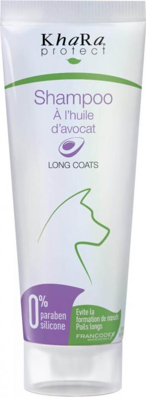 Francodex Shampoing chiens poils longs à l'huile d'avocat - Brillance et douceur